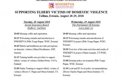 WHOSEFVA Final Conference in Estonia